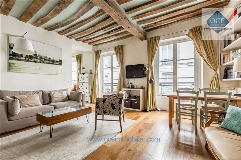 Vente de prestige appartement Paris 3ème 770 000€ - Photo 1