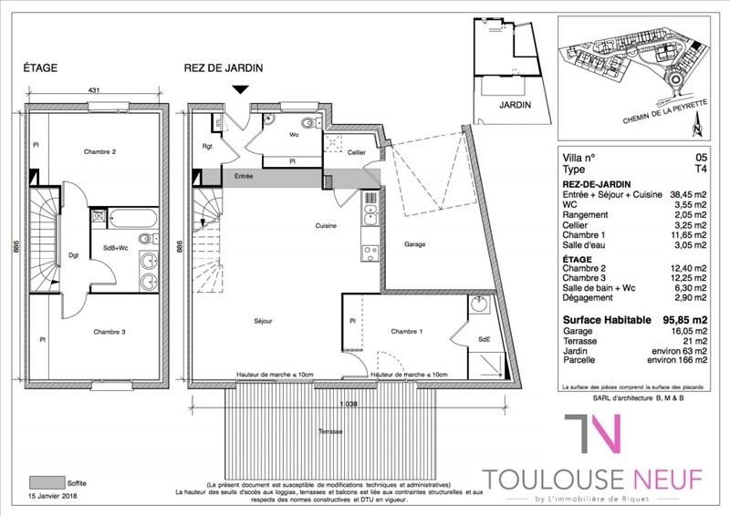 Vente maison / villa Tournefeuille 305900€ - Photo 3