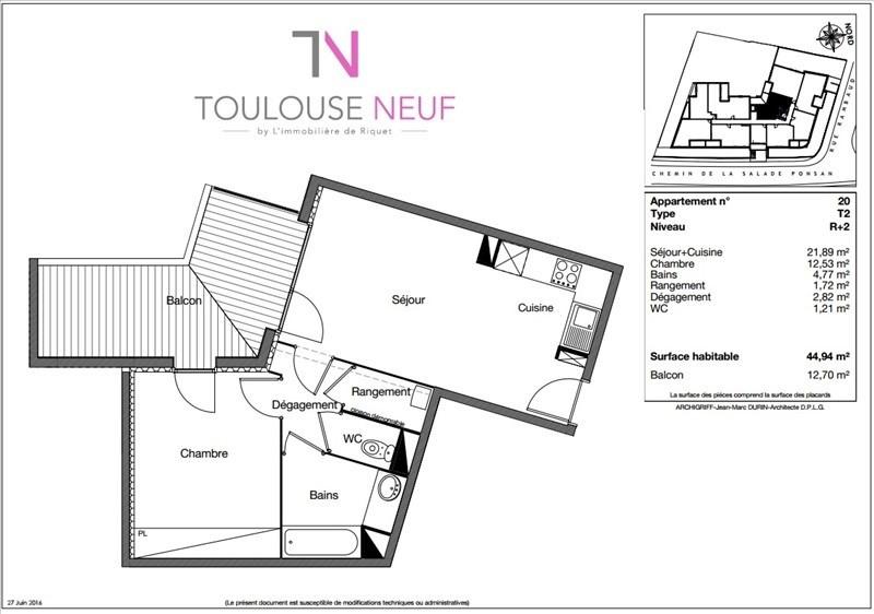 Vente appartement Toulouse 187900€ - Photo 10