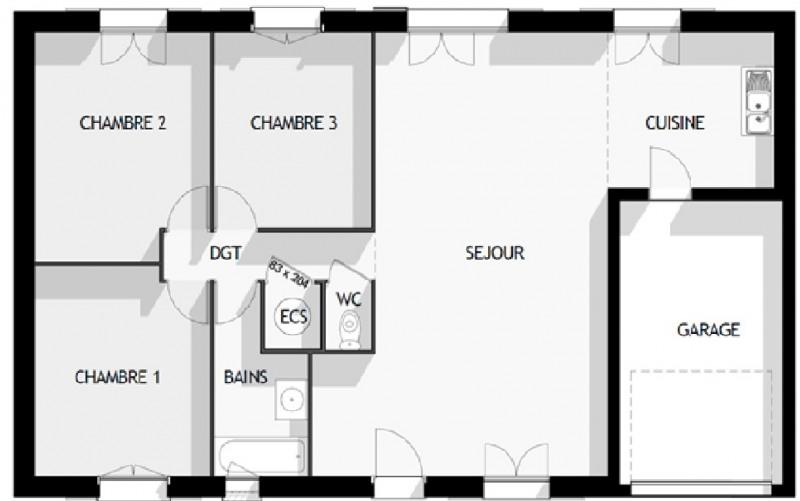 Maison  4 pièces + Terrain 546 m² Cessey-sur-Tille par MAISON FAMILIALE CHENOVE