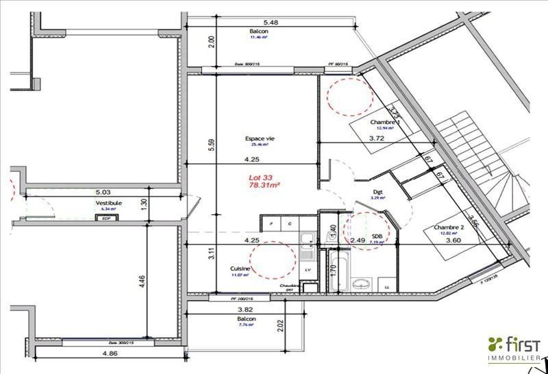 Vente appartement Balme de sillingy 291000€ - Photo 1