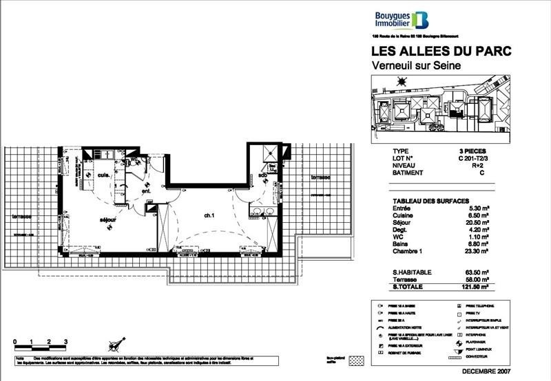 Vendita appartamento Verneuil sur seine 299000€ - Fotografia 5