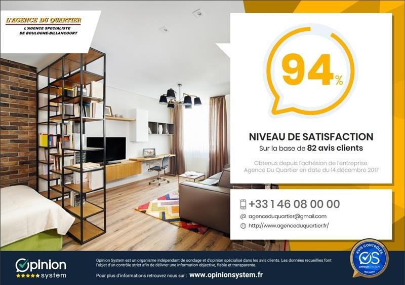Vente appartement Boulogne-billancourt 450 000€ - Photo 10