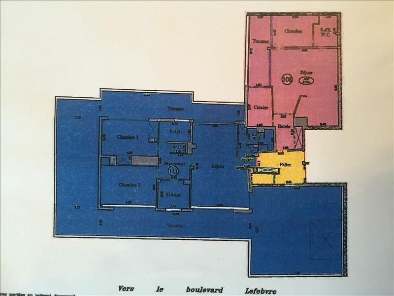 Verkoop  appartement Paris 15ème 645000€ - Foto 12