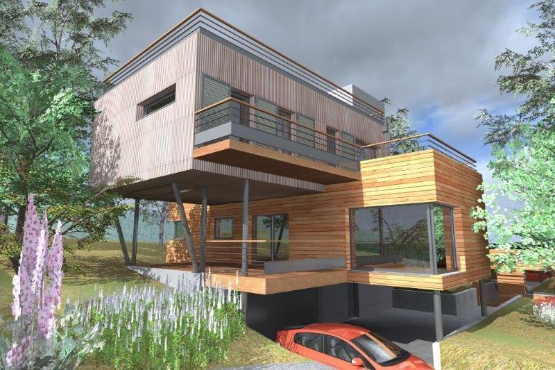 """Modèle de maison  """"Modèle de maison ossature bois 5 pièces"""" à partir de 5 pièces Yvelines par ENTREPRISE GILBERT"""