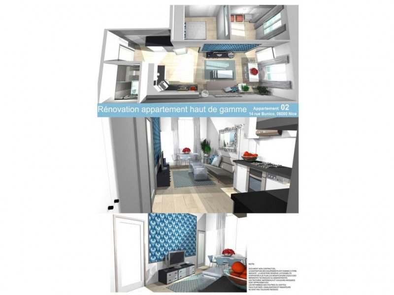 Vente appartement Nice 280000€ - Photo 1