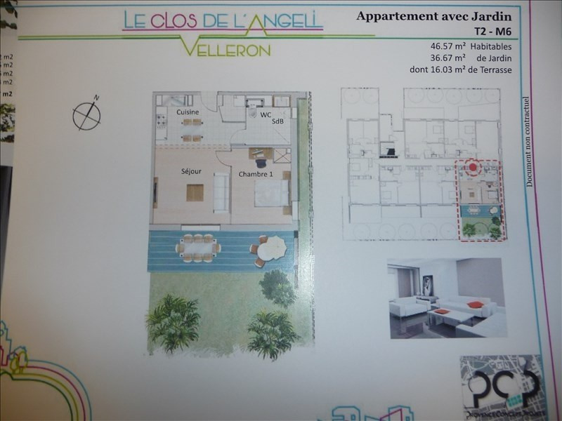 Investimento apartamento Velleron 151600€ - Fotografia 2