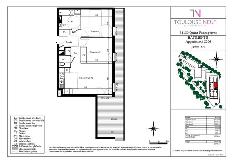 Vente appartement Quint-fonsegrives 209000€ - Photo 2