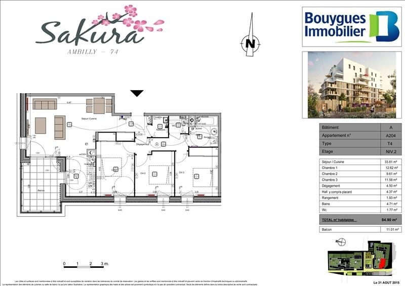 Sale apartment Ambilly 404000€ - Picture 3