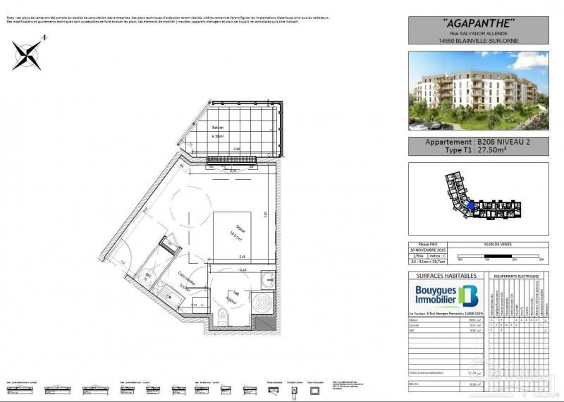 Location appartement Blainville sur orne 360€ CC - Photo 2