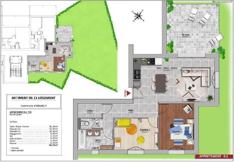 Venta  apartamento Amancy 250000€ - Fotografía 4