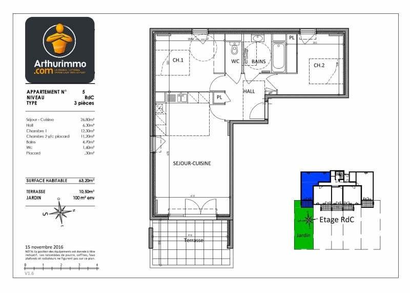 Vente appartement Antibes 369000€ - Photo 2