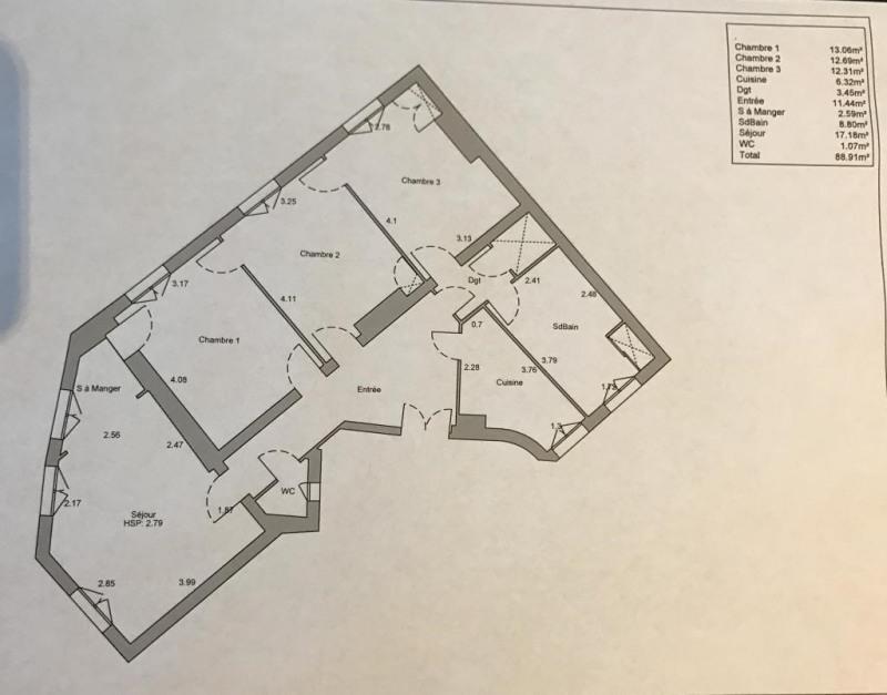 Sale apartment Paris 17ème 860000€ - Picture 1