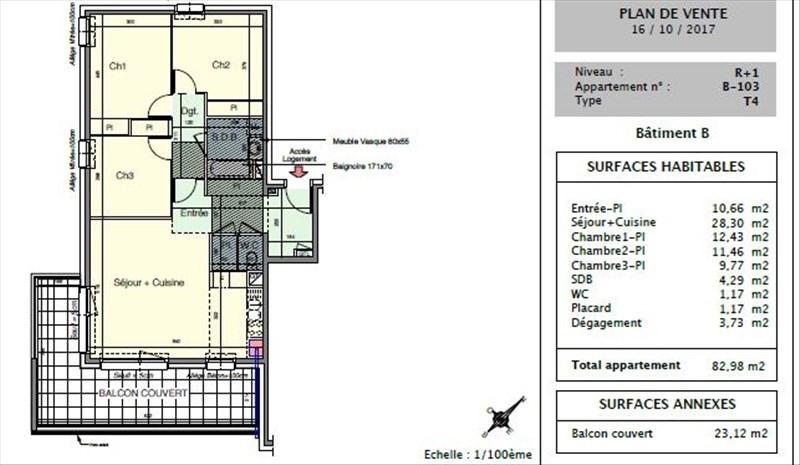 Venta  apartamento Seynod 312000€ - Fotografía 3