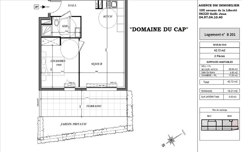 Sale apartment Le golfe juan 249000€ - Picture 2