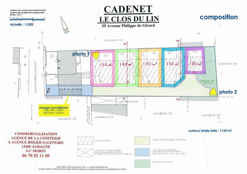 Vente terrain Cadenet 99000€ - Photo 3