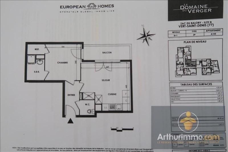 Rental apartment Vert st denis 679€ CC - Picture 2