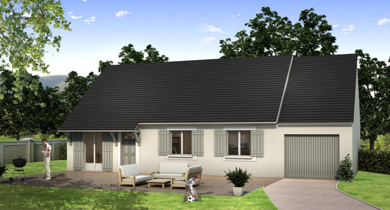 """Modèle de maison  """"Plain pied 5 pièces"""" à partir de 5 pièces Val-de-Marne par MAISONS BARILLEAU"""