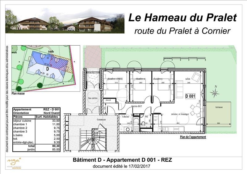 Sale apartment Cornier 289 000€ - Picture 2
