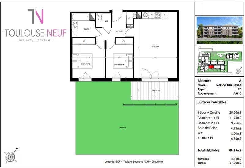 Vente appartement Toulouse 261000€ - Photo 5