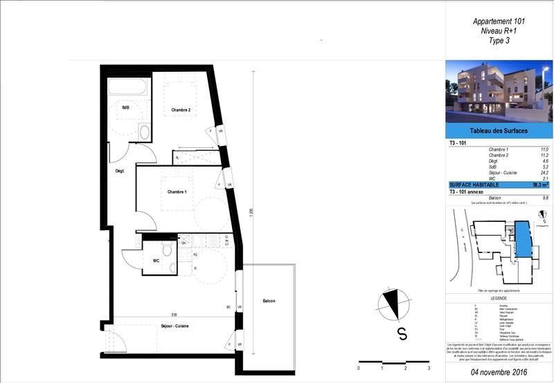 Sale apartment Boucau 180600€ - Picture 2