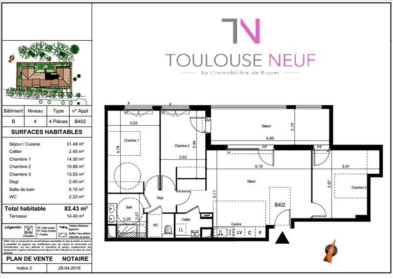 Vente appartement Castanet tolosan 342000€ - Photo 8