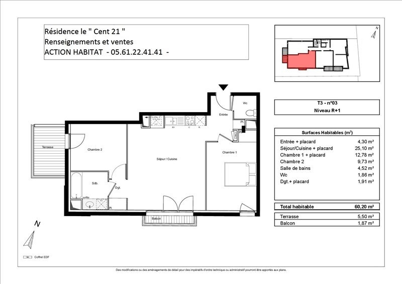 Vente appartement Toulouse 227000€ - Photo 2
