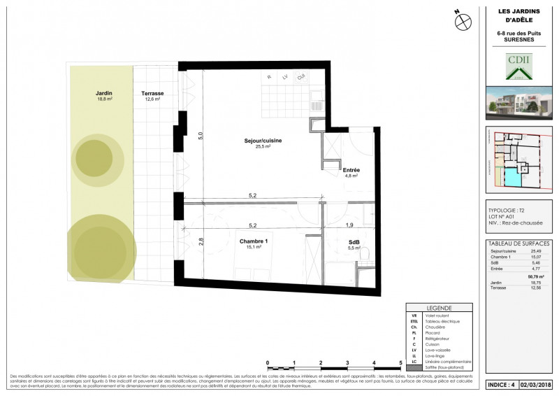 Sale apartment Suresnes 430000€ - Picture 3