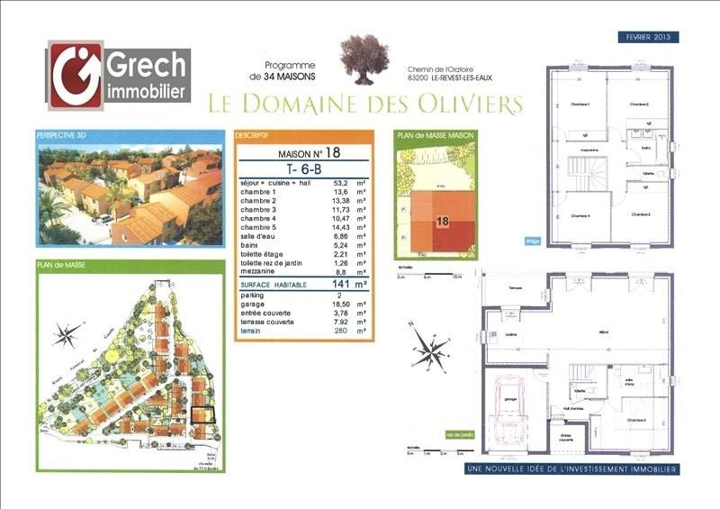 Sale house / villa Le revest les eaux 462700€ - Picture 1