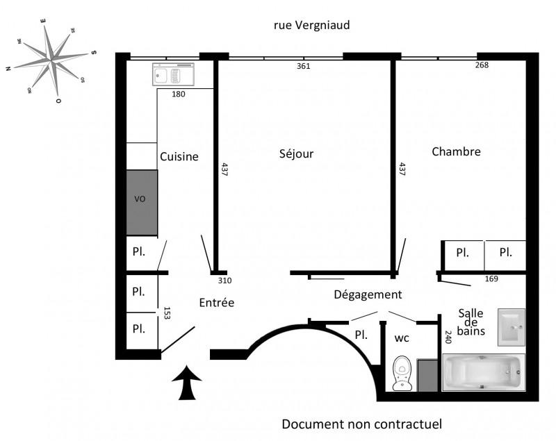 Location appartement Paris 13ème 1126€ CC - Photo 2