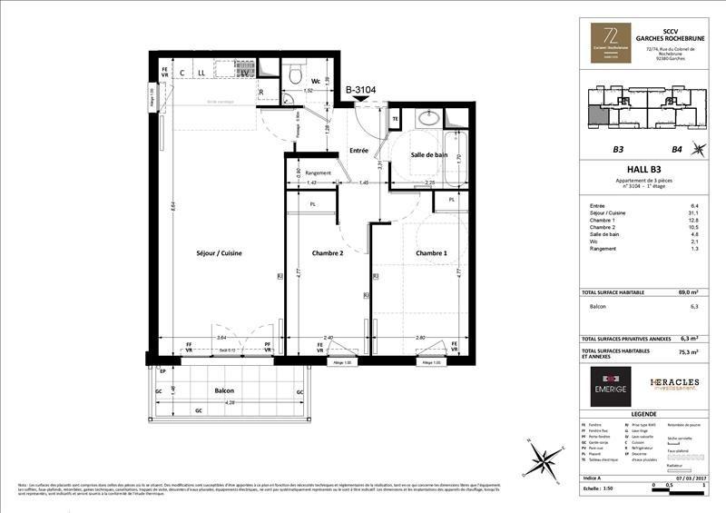 Sale apartment Garches 469000€ - Picture 3
