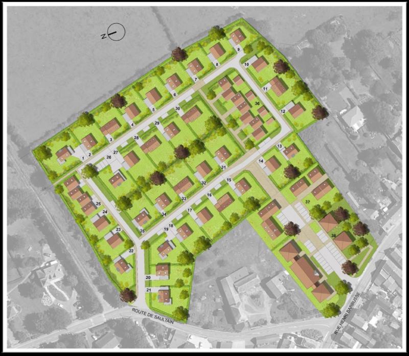 Vente terrain pr seau 363m 59500 for Combien coute un terrain constructible