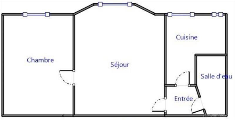 Rental apartment Asnieres sur seine 760€ CC - Picture 2