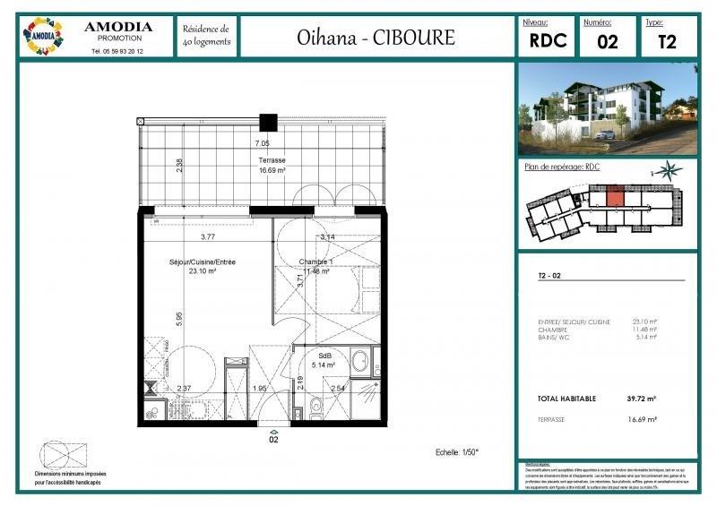 Vente appartement Ciboure 166000€ - Photo 4