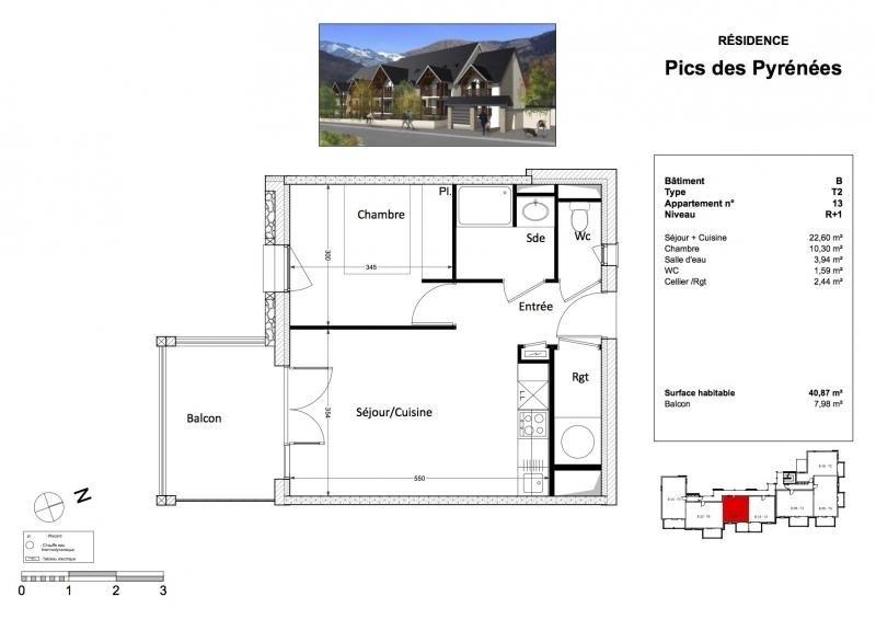 Revenda residencial de prestígio apartamento Bagneres de luchon 143045€ - Fotografia 3