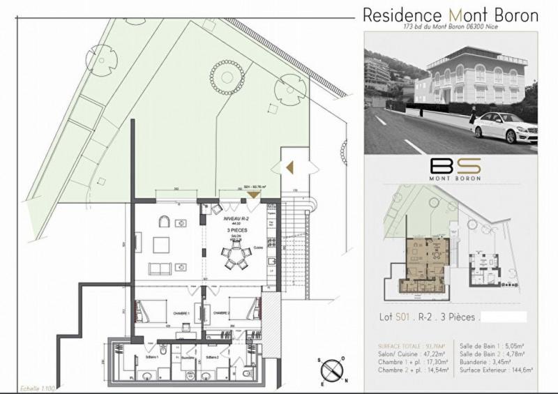 Vente appartement Nice 420000€ - Photo 2