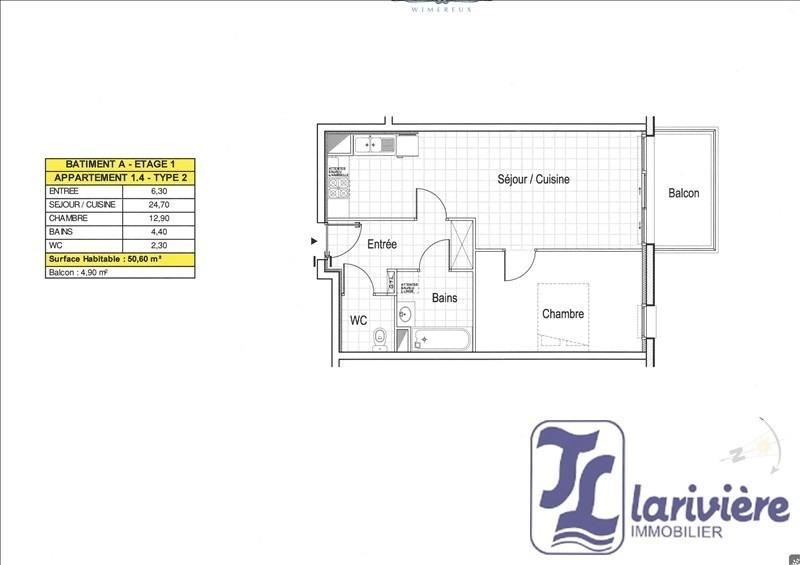 Vente appartement Wimereux 213000€ - Photo 1
