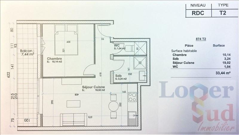Vente appartement Montpellier 113000€ - Photo 2
