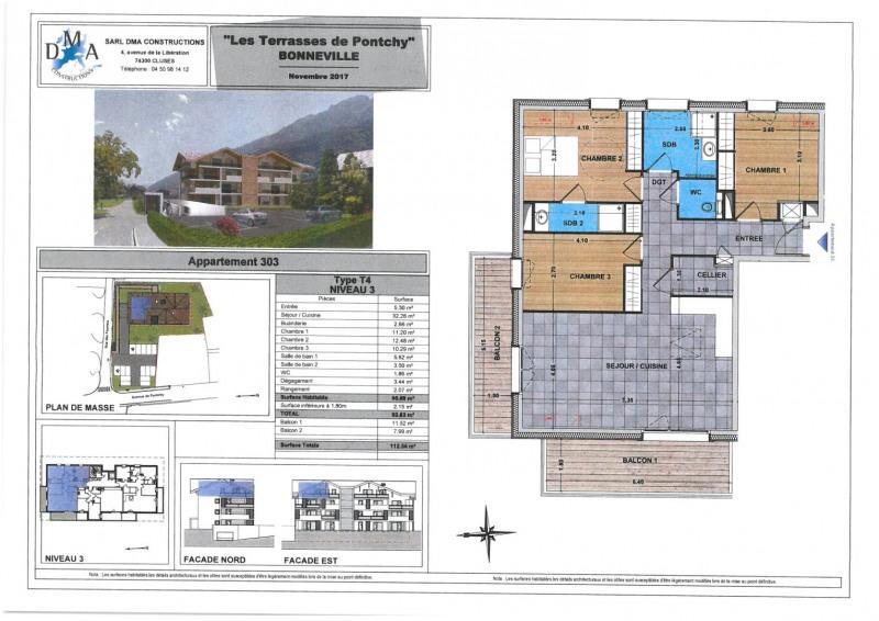 Vente appartement Bonneville 319000€ - Photo 2
