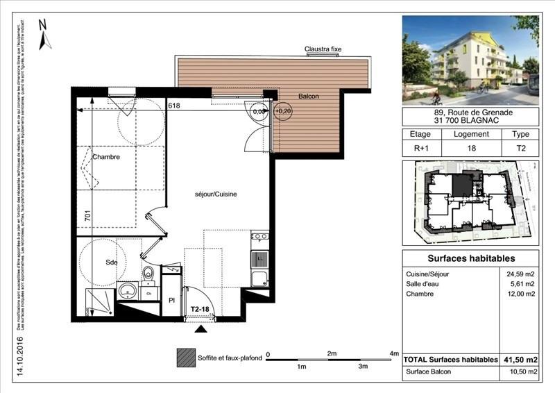 Vente appartement Blagnac 190000€ - Photo 2