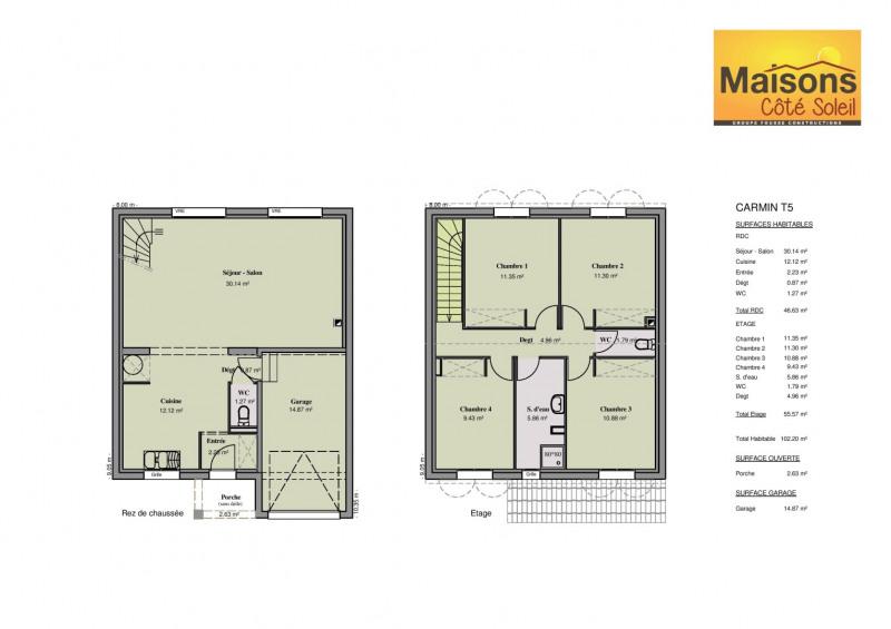 Maison  5 pièces + Terrain 272 m² Pézenas par MAISONS COTE SOLEIL