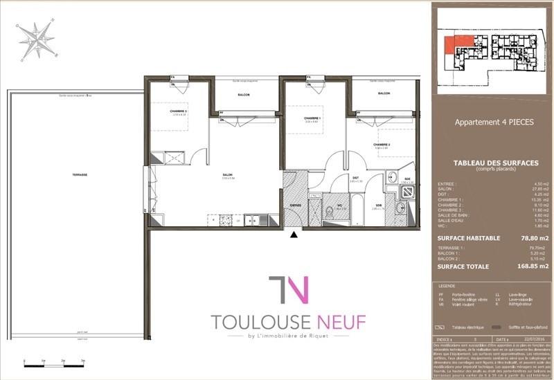 Vente appartement Toulouse 304500€ - Photo 8