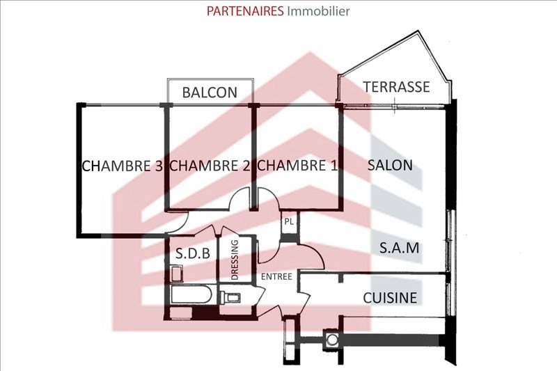 Vente appartement Le chesnay 339000€ - Photo 4