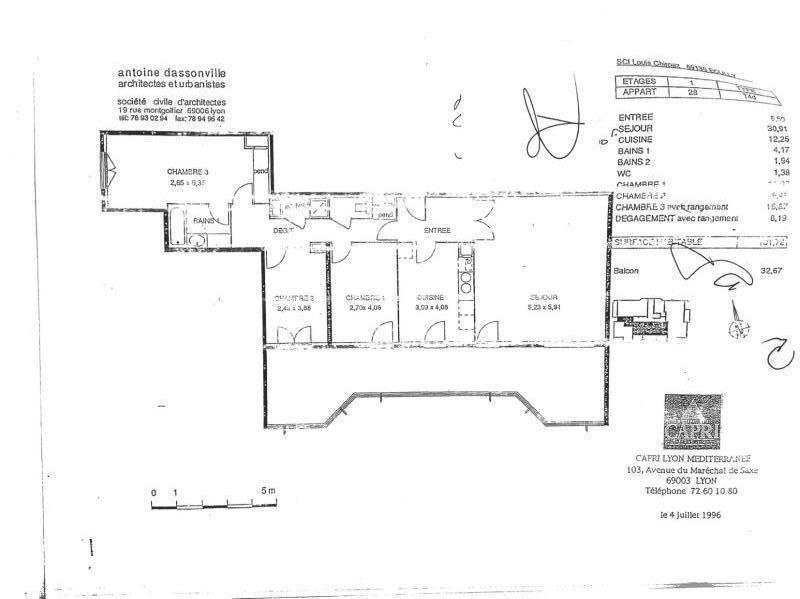 Locação apartamento Ecully 1412€ CC - Fotografia 5