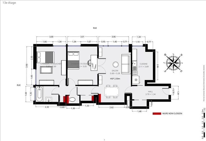 Verkoop  appartement Paris 15ème 653000€ - Foto 9