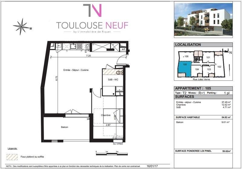 Vente appartement Toulouse 212000€ - Photo 5