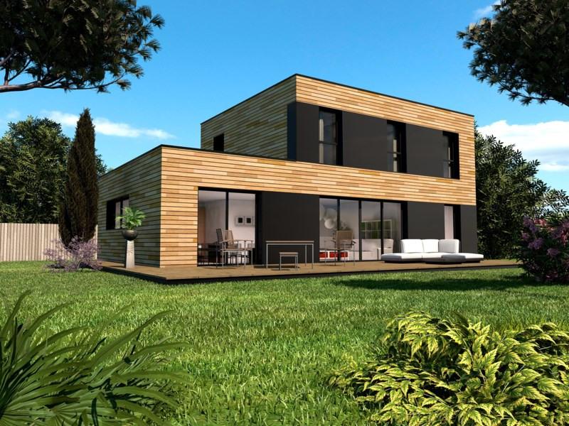 """Modèle de maison  """"Archibox 130s - 6 pièces - 132 m²"""" à partir de 6 pièces Seine-et-Marne par PRIMOBOIS MARNE-LA-VALLEE"""