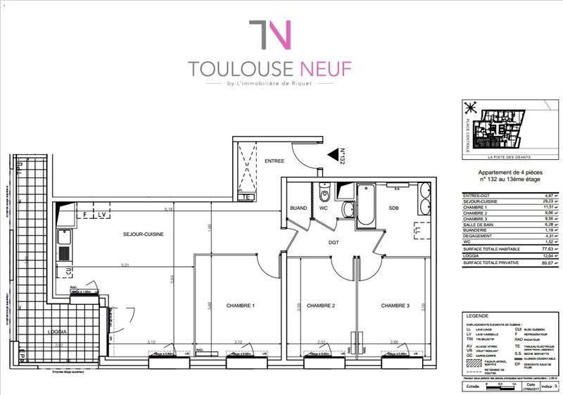 Vente appartement Toulouse 286000€ - Photo 6
