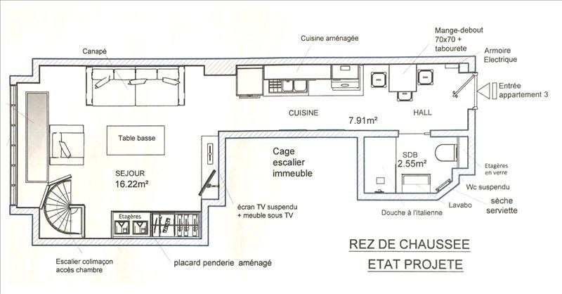 Vente appartement Paris 20ème 265000€ - Photo 1