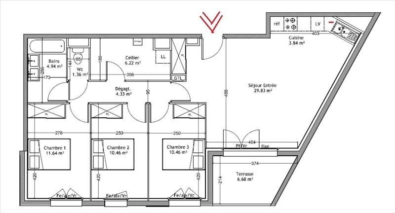 Vente appartement Merignac 302000€ - Photo 2